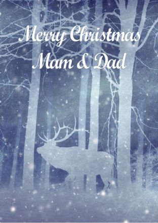 Personalised Forest Deer Christmas Card